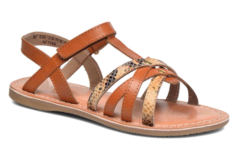 Sandales et nu-pieds Kickers Farah Marron vue détail/paire