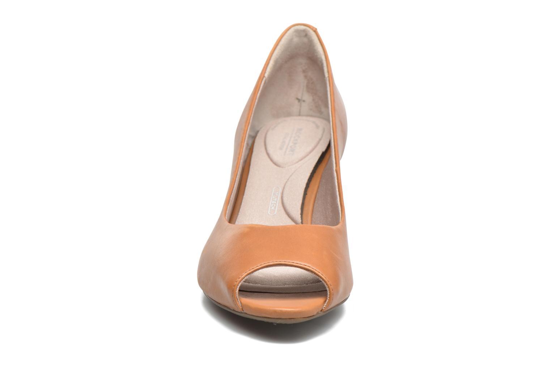 Escarpins Rockport Audrina Peep Marron vue portées chaussures