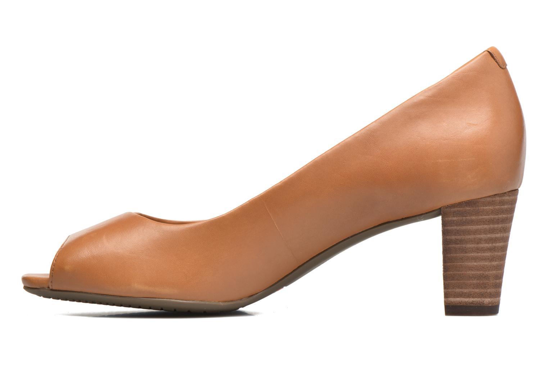 Zapatos de tacón Rockport Audrina Peep Marrón vista de frente