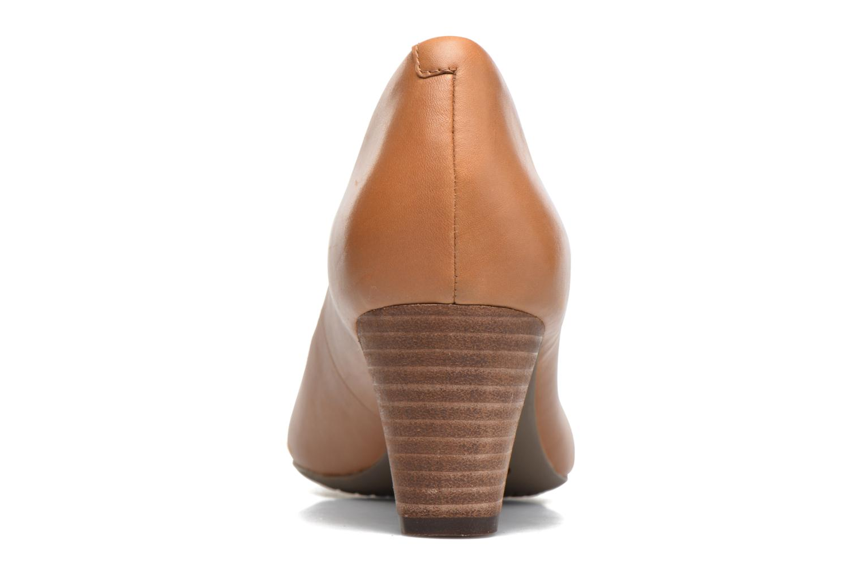 Zapatos de tacón Rockport Audrina Peep Marrón vista lateral derecha