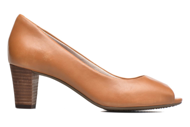 Zapatos de tacón Rockport Audrina Peep Marrón vistra trasera