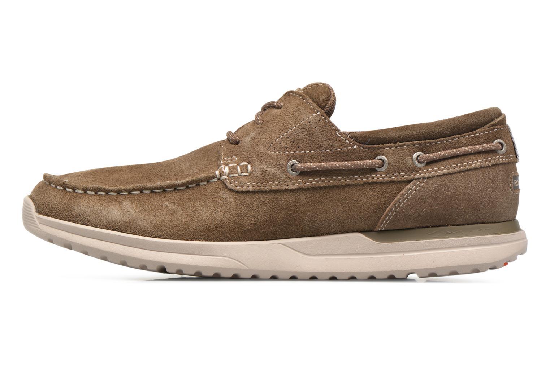 Zapatos con cordones Rockport Langdon 3 Eye Ox Marrón vista de frente