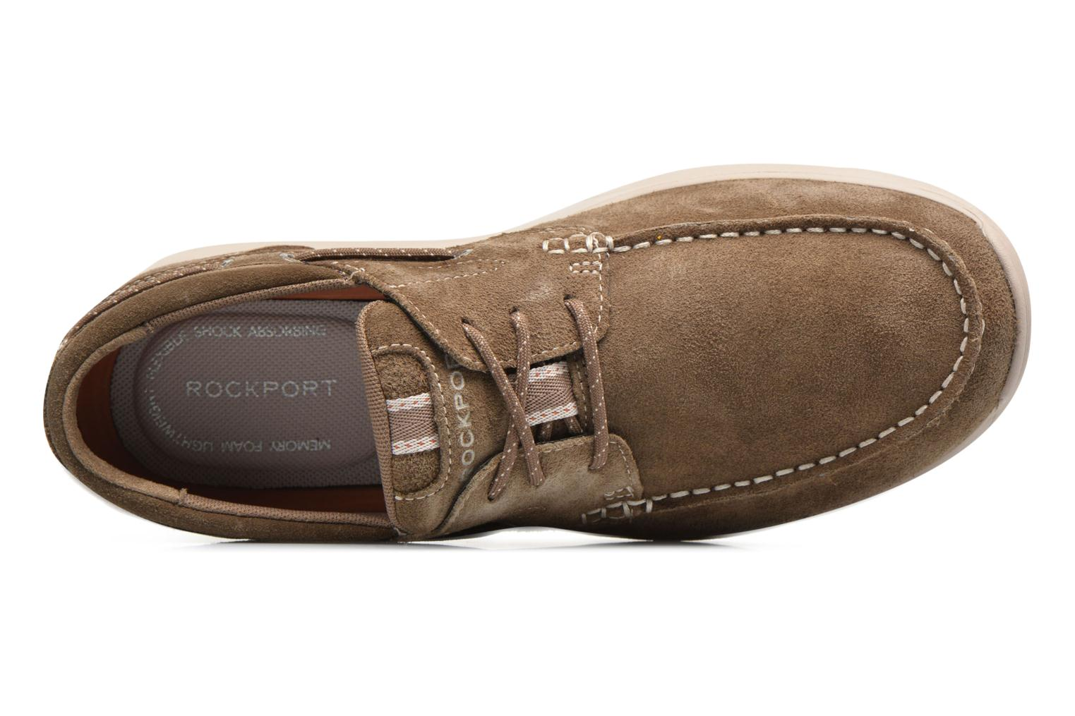 Veterschoenen Rockport Langdon 3 Eye Ox Bruin links