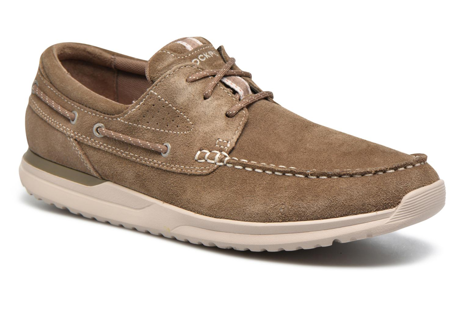 Zapatos con cordones Rockport Langdon 3 Eye Ox Marrón vista de detalle / par