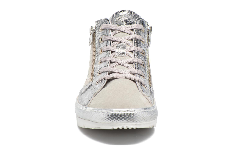 Baskets Khrio Cristal Argent vue portées chaussures