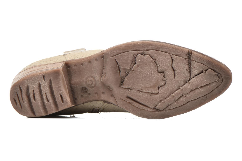 Bottines et boots Khrio Clarina Beige vue haut