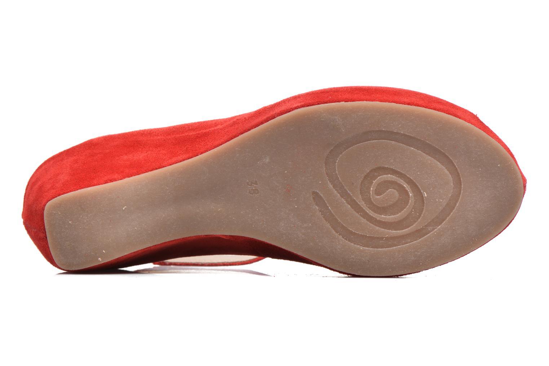 Sandalen Khrio Cylia rot ansicht von oben