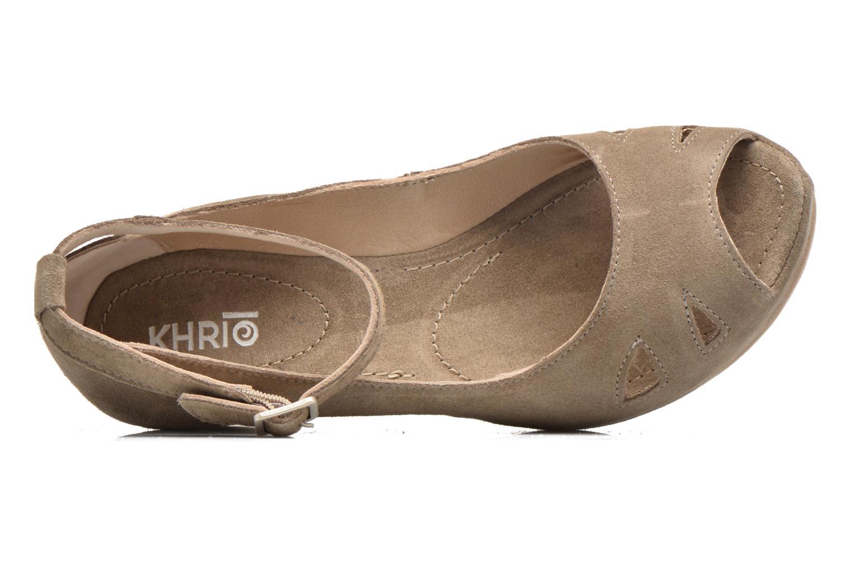 Sandali e scarpe aperte Khrio Cylia Beige immagine sinistra