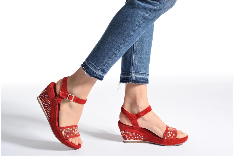 Sandales et nu-pieds Khrio Missy Noir vue bas / vue portée sac