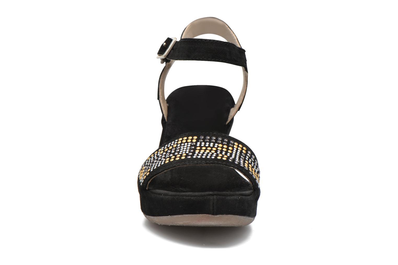 Sandales et nu-pieds Khrio Missy Noir vue portées chaussures