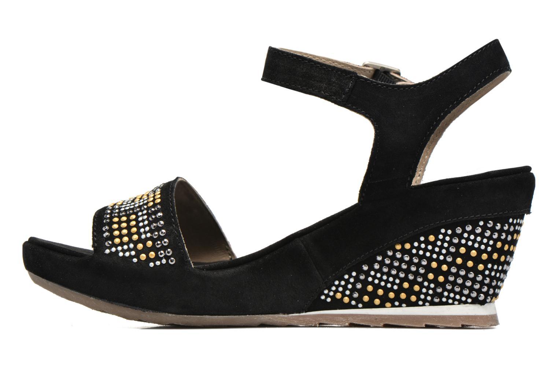 Sandales et nu-pieds Khrio Missy Noir vue face