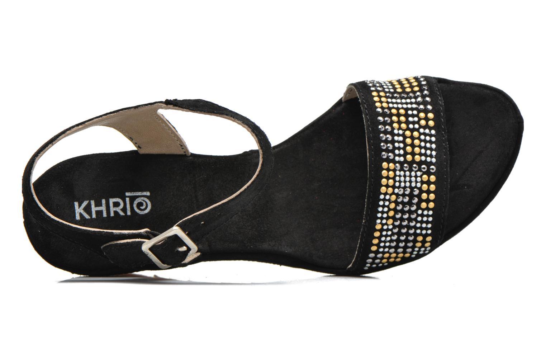 Sandales et nu-pieds Khrio Missy Noir vue gauche