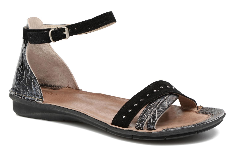 Sandales et nu-pieds Khrio Tiara Noir vue détail/paire