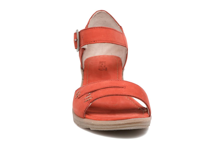 Sandales et nu-pieds Khrio Candella Rouge vue portées chaussures