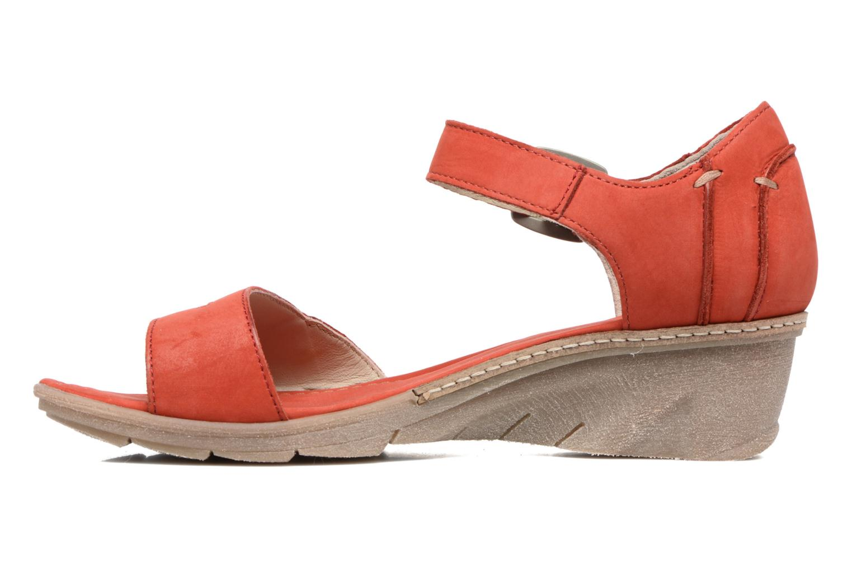 Sandales et nu-pieds Khrio Candella Rouge vue face