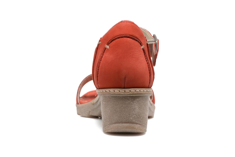Sandales et nu-pieds Khrio Candella Rouge vue droite