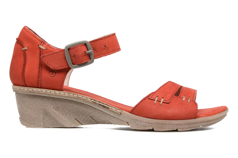Sandales et nu-pieds Khrio Candella Rouge vue derrière