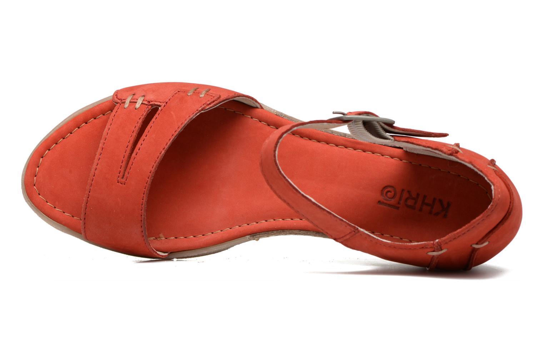Sandales et nu-pieds Khrio Candella Rouge vue gauche
