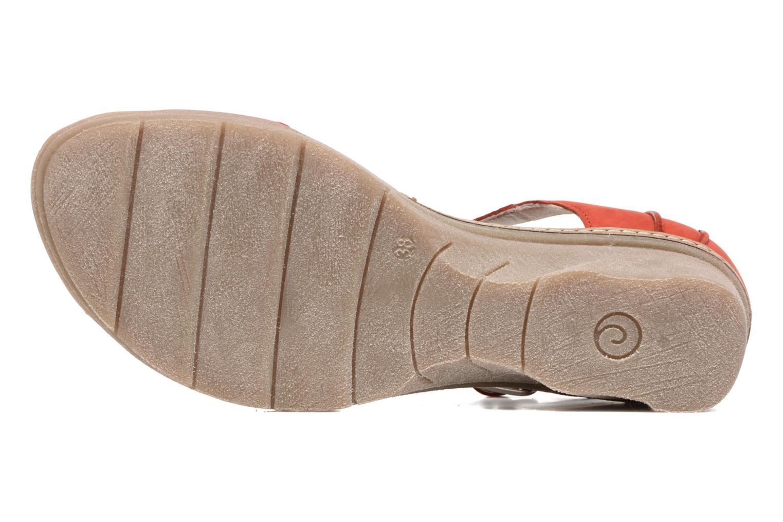 Sandales et nu-pieds Khrio Candella Rouge vue haut