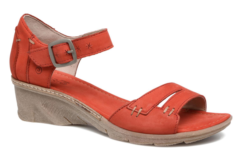 Sandales et nu-pieds Khrio Candella Rouge vue détail/paire