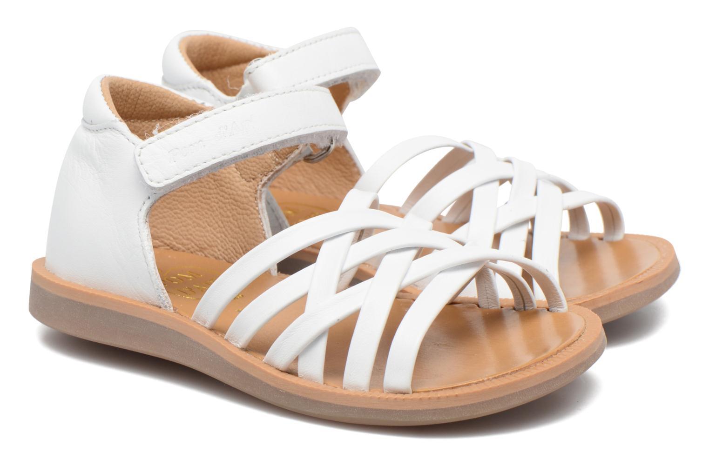 Sandales et nu-pieds Pom d Api Poppy Lux Blanc vue 3/4