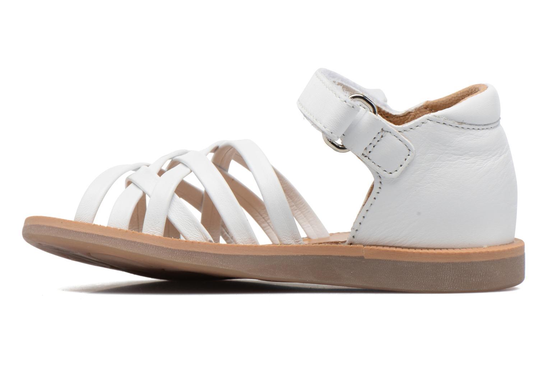 Sandales et nu-pieds Pom d Api Poppy Lux Blanc vue face