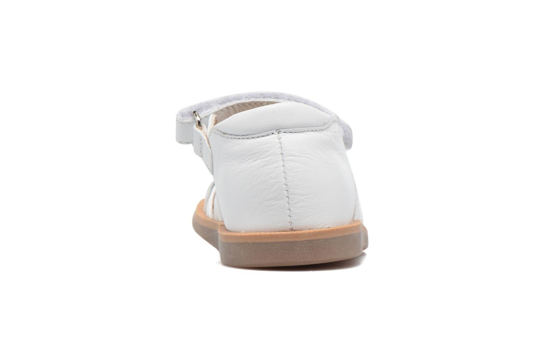 Sandales et nu-pieds Pom d Api Poppy Lux Blanc vue droite