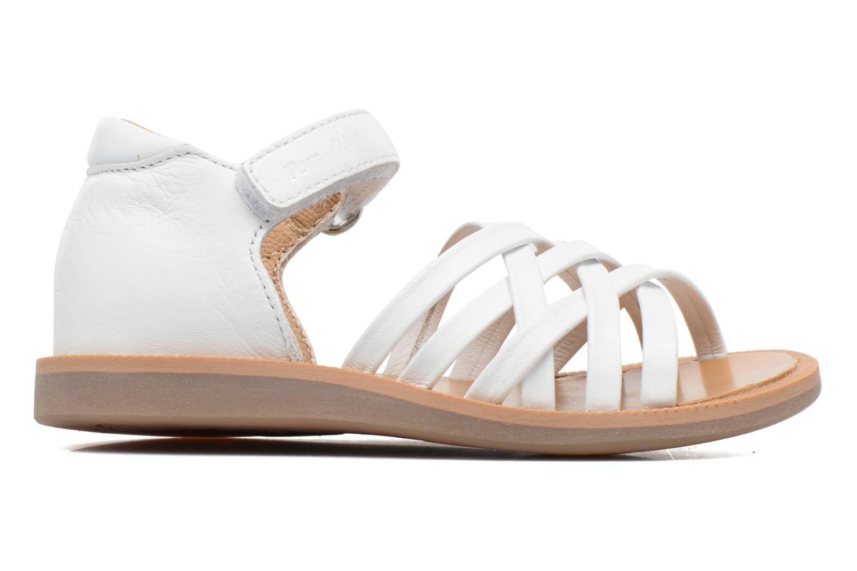 Sandales et nu-pieds Pom d Api Poppy Lux Blanc vue derrière