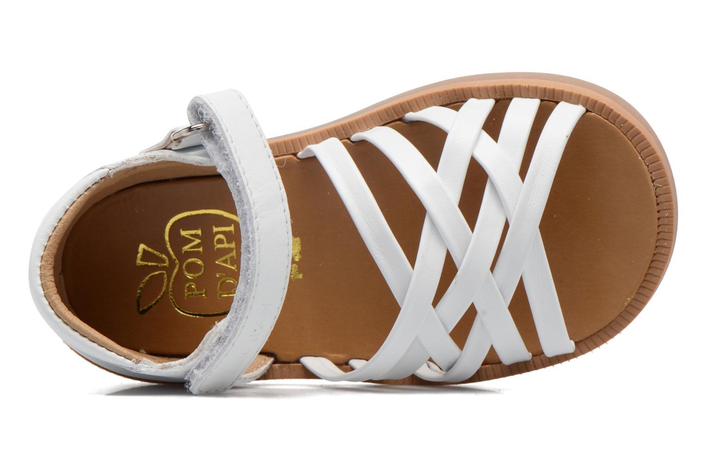 Sandales et nu-pieds Pom d Api Poppy Lux Blanc vue gauche