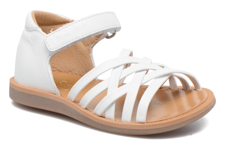 Sandales et nu-pieds Pom d Api Poppy Lux Blanc vue détail/paire