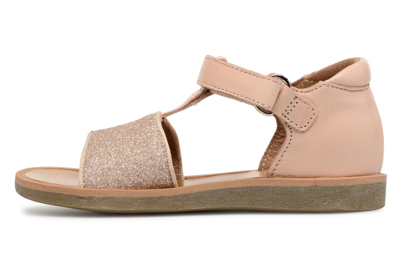Sandales et nu-pieds Pom d Api Poppy Tao Easy Rose vue face