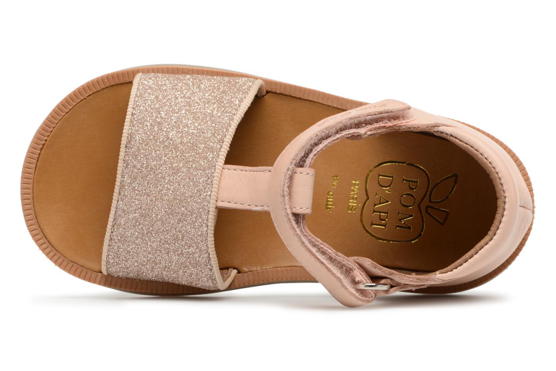 Sandales et nu-pieds Pom d Api Poppy Tao Easy Rose vue gauche