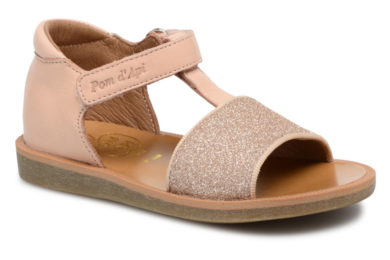 Sandales et nu-pieds Pom d Api Poppy Tao Easy Rose vue détail/paire