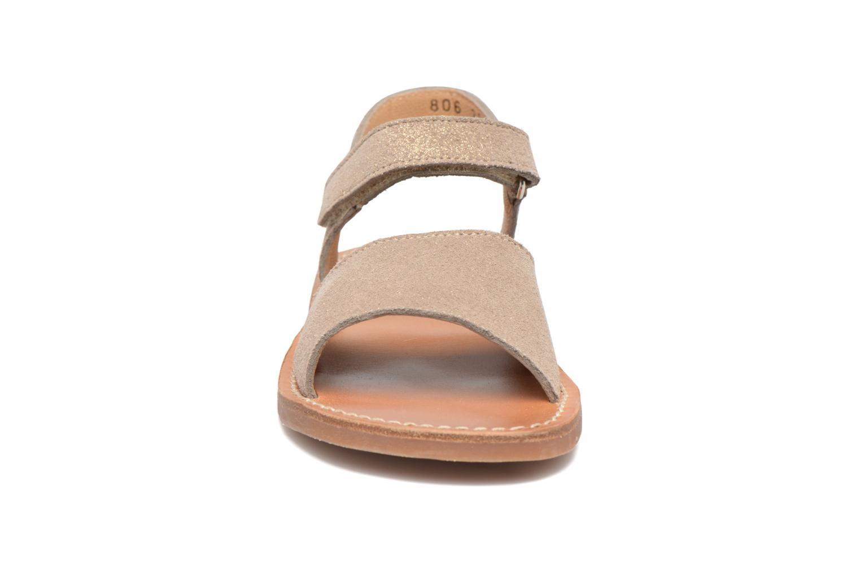 Sandales et nu-pieds Pom d Api Plage Stitch Easy Or et bronze vue portées chaussures