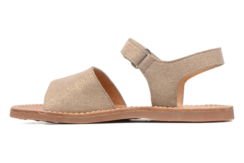Sandales et nu-pieds Pom d Api Plage Stitch Easy Or et bronze vue face