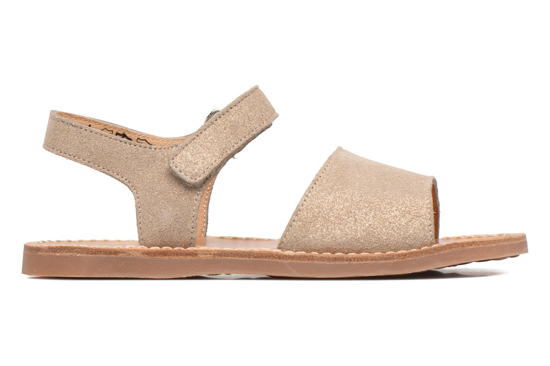 Sandales et nu-pieds Pom d Api Plage Stitch Easy Or et bronze vue derrière