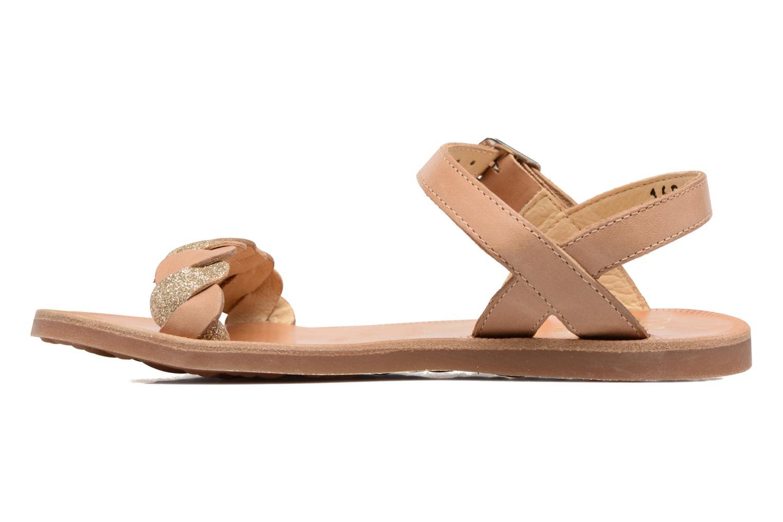 Sandales et nu-pieds Pom d Api Plagette Twist Marron vue face
