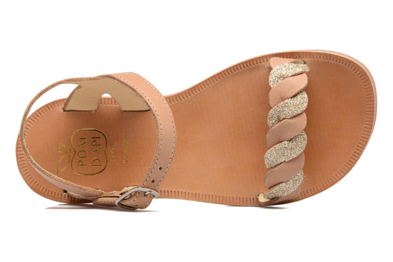 Sandales et nu-pieds Pom d Api Plagette Twist Marron vue gauche