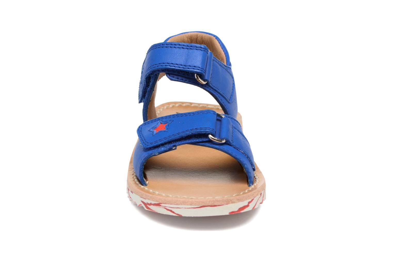 Sandales et nu-pieds Pom d Api Waff Kastro Bleu vue portées chaussures