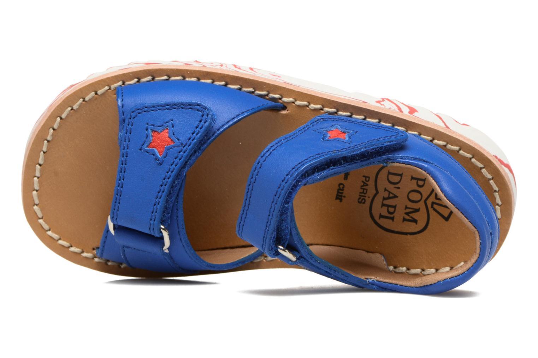 Sandales et nu-pieds Pom d Api Waff Kastro Bleu vue gauche