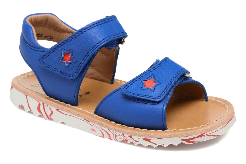 Sandales et nu-pieds Pom d Api Waff Kastro Bleu vue détail/paire