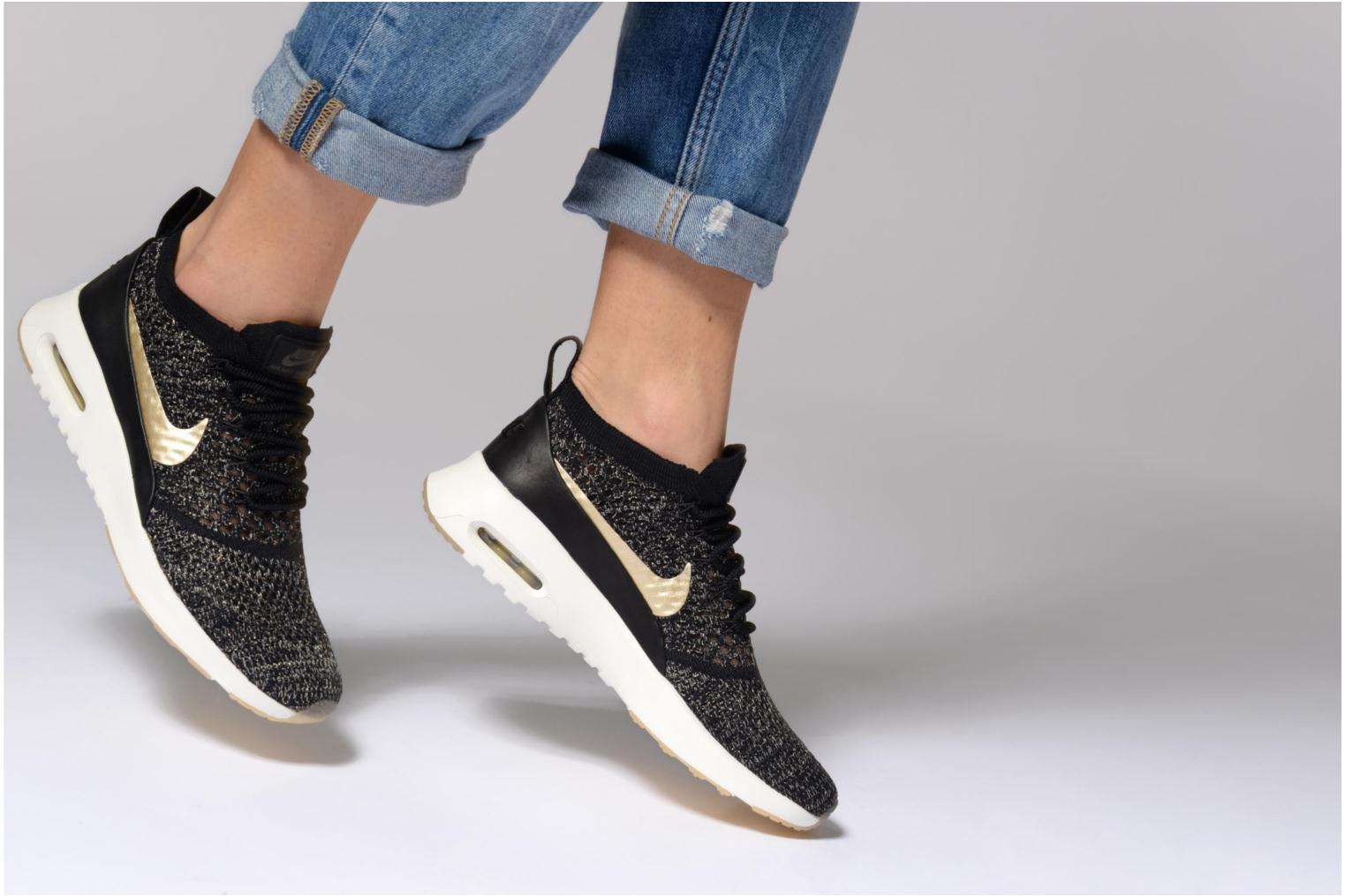 Trainers Nike W Air Max Thea Ultra Fk Mtlc Black view from underneath / model view