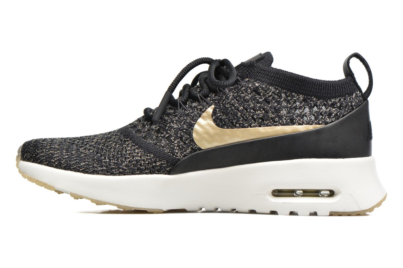Trainers Nike W Air Max Thea Ultra Fk Mtlc Black front view