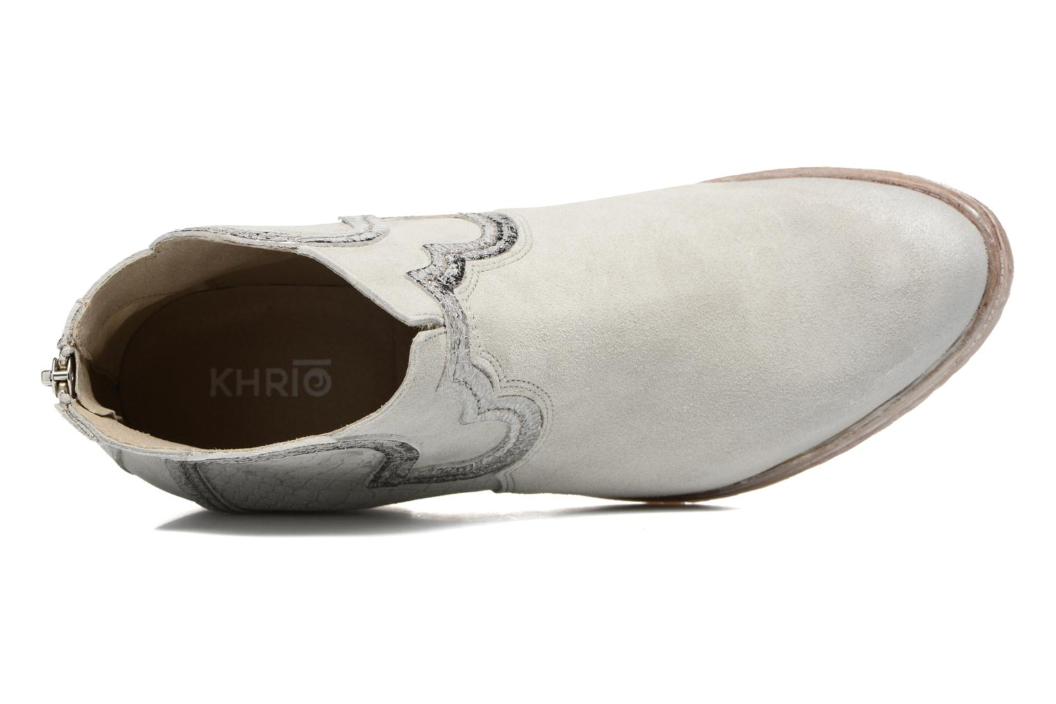 Ankle boots Khrio Giorgia Beige view from the left