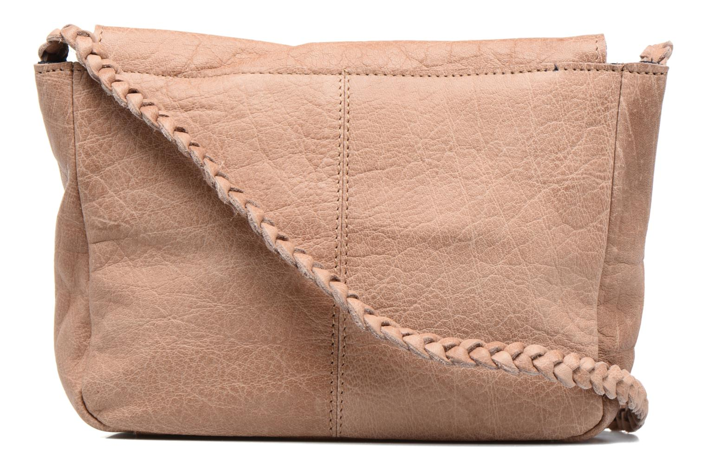 Bolsos de mano Pieces Frabo Leather Crossover bag Beige vista de frente
