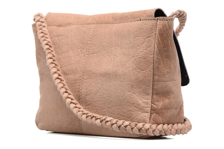 Bolsos de mano Pieces Frabo Leather Crossover bag Beige vista lateral derecha