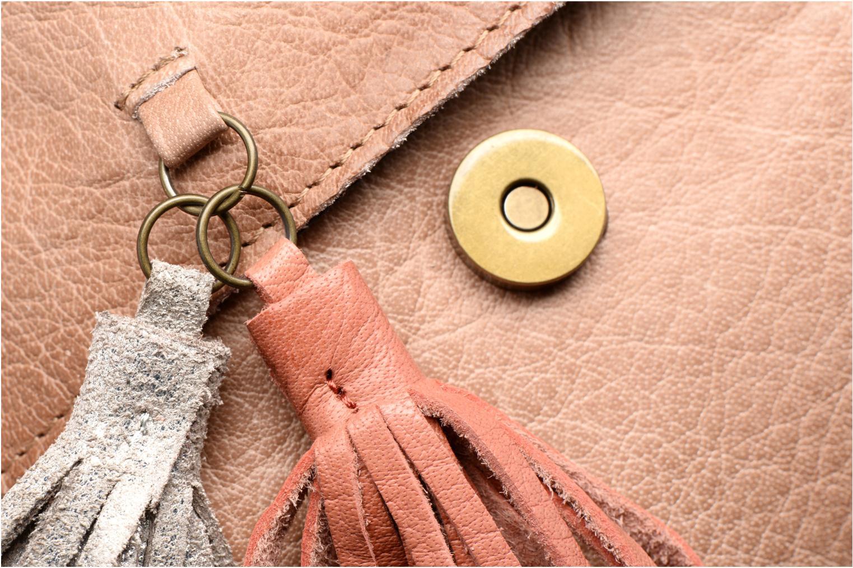 Bolsos de mano Pieces Frabo Leather Crossover bag Beige vista lateral izquierda