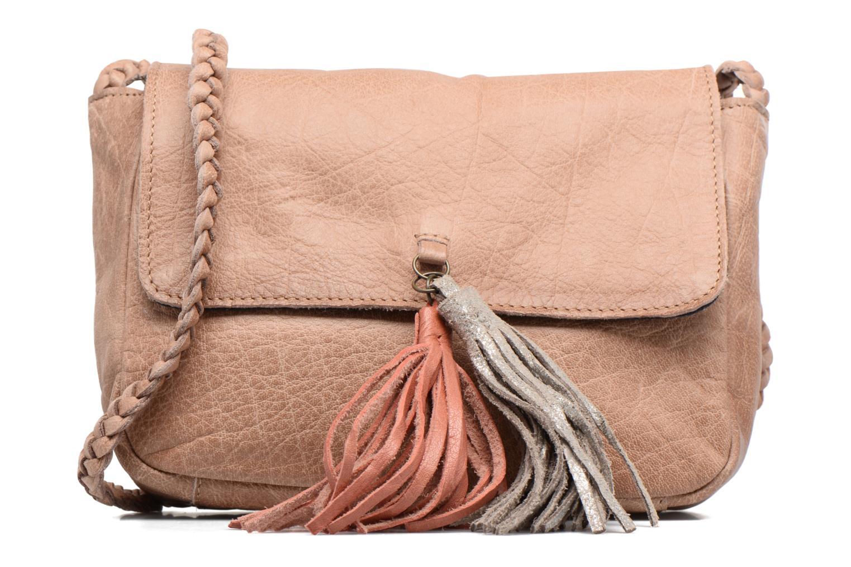 Bolsos de mano Pieces Frabo Leather Crossover bag Beige vista de detalle / par