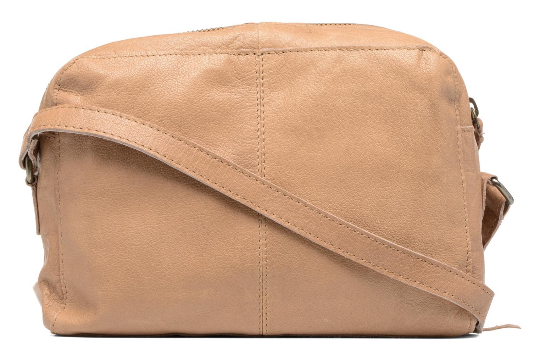 Sacs à main Pieces Jace Leather Crossover bag Beige vue face