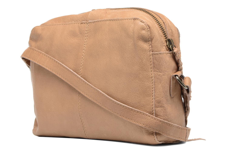 Sacs à main Pieces Jace Leather Crossover bag Beige vue droite